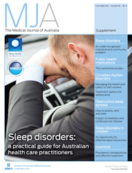 MJA supplement sleep disorders